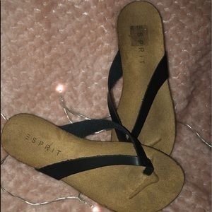 Sandals with a wedge